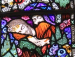 Harry Clarke Stained Glass Window - Sleeping Christ