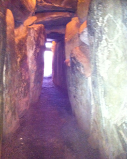 Newgrange - coming out of the tomb