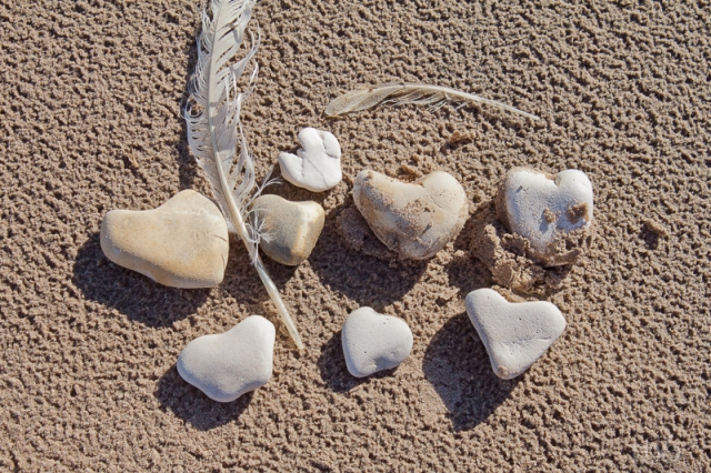 Heart Stones at White Park Bay
